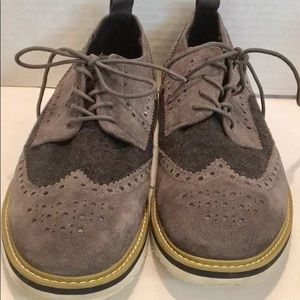 KENNETH COLE HE PITCHED IT BROGUE Leather WOOL 9.5